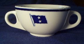flag 2 stars, rear admiral, nautical tableware Naval China
