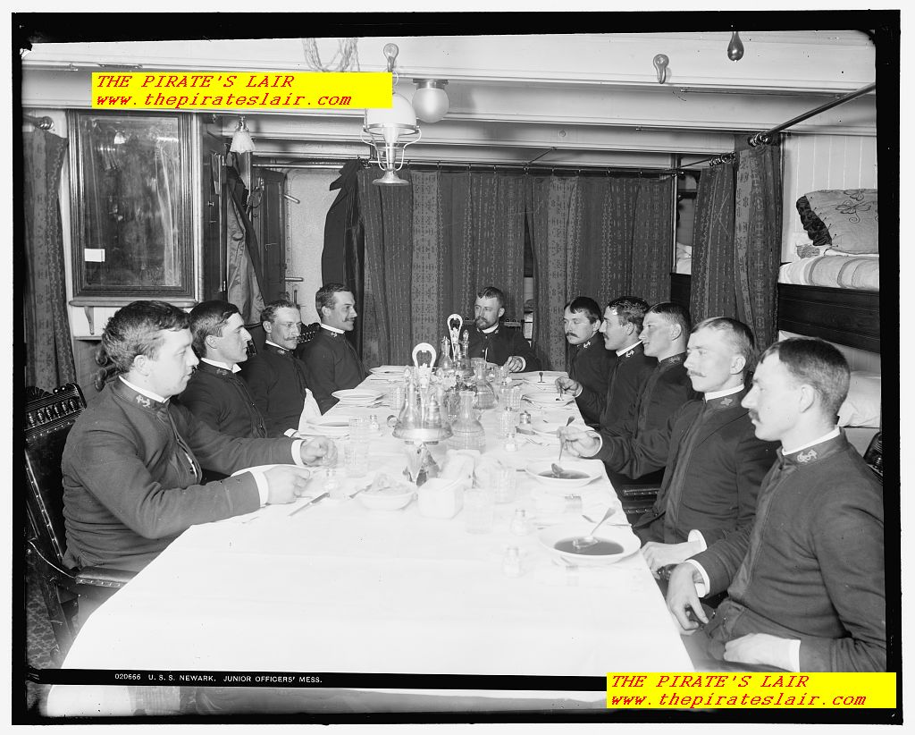 1896-1901 USS Newark Junior Officers Wardroom and Mess - #025