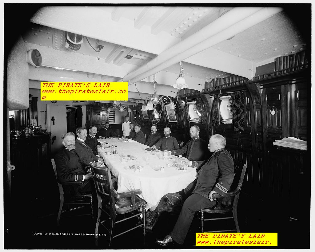 1896-1901 USS Oregon Wardroom Officers Mess - #027