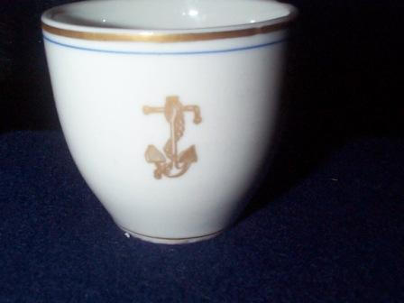 us navy dinnerware demitasse cup gold fouled anchor