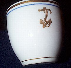 Antique US Navy Demitasse Cup with Golden Fouled Anchor
