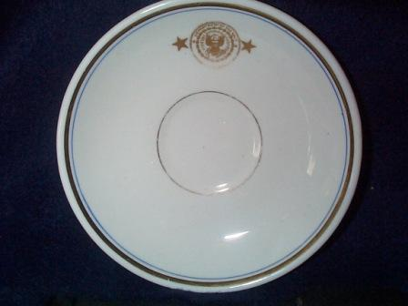 Antique Saucer, Navy Department, 2 Star Rear Admiral