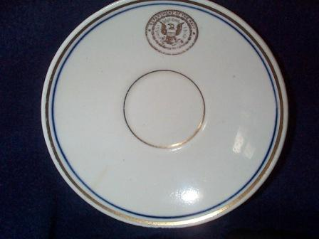 Antique Saucer, Navy Department Seal