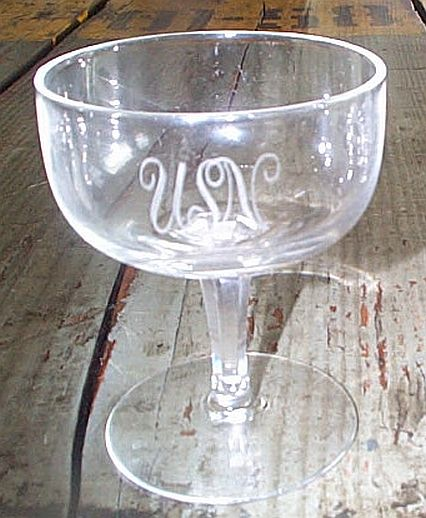us navy antique crystal glass champaigne