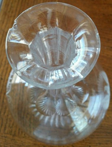 US Navy Crystal Decanter Great White Fleet and WWI Era with USN insignia and inscription