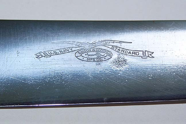 Rare Museum Quality Lamson & Goodnow US Navy Standard Cutlery Butcher Knife Topmark