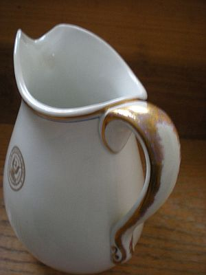 Antique US Dept of the Navy Milk or Cream Pitcher bottom mark