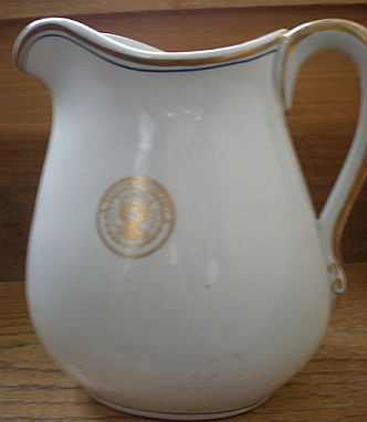 us navy dept of navy antique milk or cream pitcher dated 1918