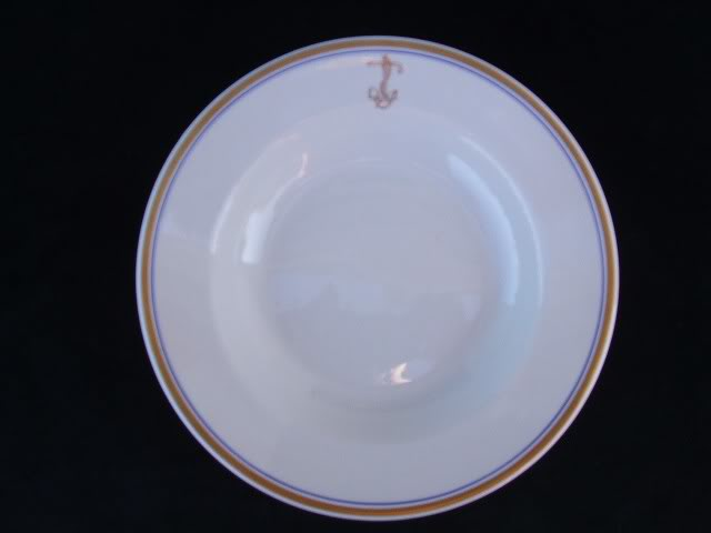 Navy Officer Mess Gold Anchor Soup Bowl