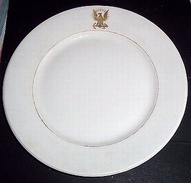 us navy antique dinner plate 1894