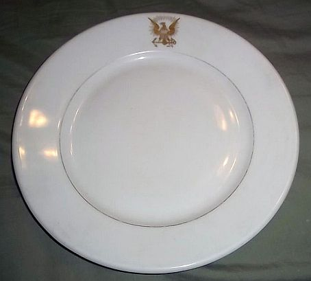 us navy antique dinner plate 1898