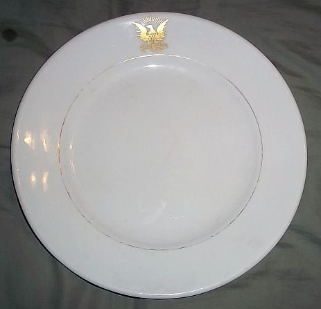 us navy antique dinner plate