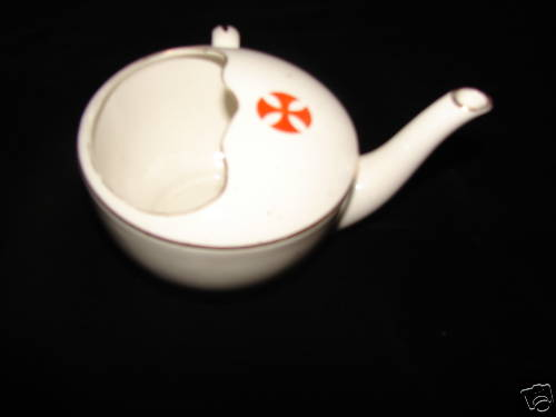 Hospital Feeding Cup with Red Maltese Cross