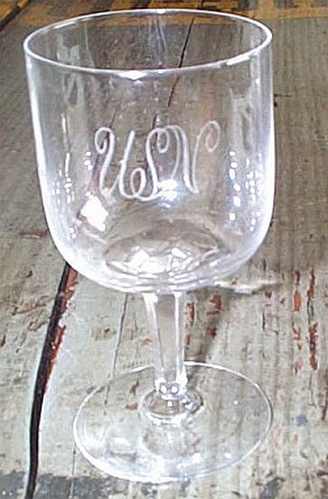 us navy antique crystal glass port wines and sherries