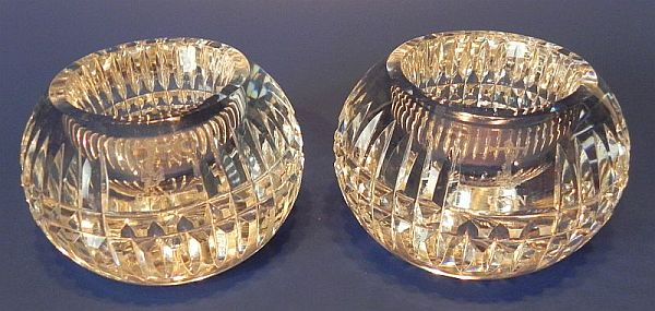 us navy antique crystal glass votive candle holders