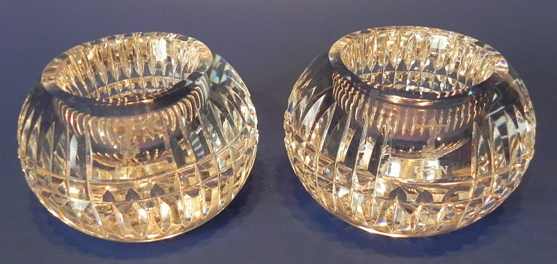 Crystal Votive Candle Holders Span Am War, Great White Fleet and WWI Era