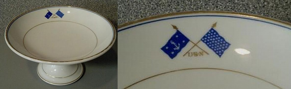 Antique USN secretary of the Navy serving dish or compote