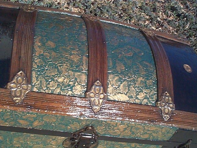 Antique Dome Top Steamer Trunk #215 View