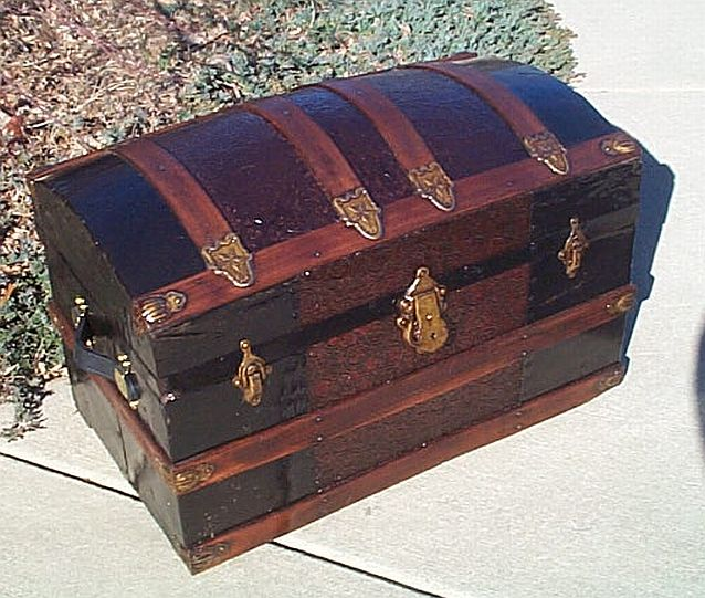 Antique Dome Top Steamer Trunk #216