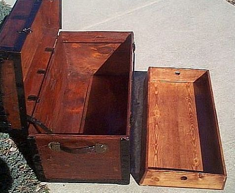 Antique Dome Top Steamer Trunk #218