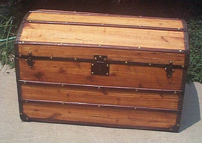Antique Dome Top Civil War era trunk #239