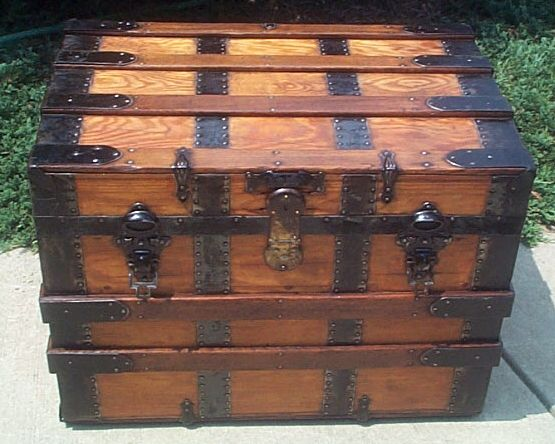 Antique Flat top trunk #240