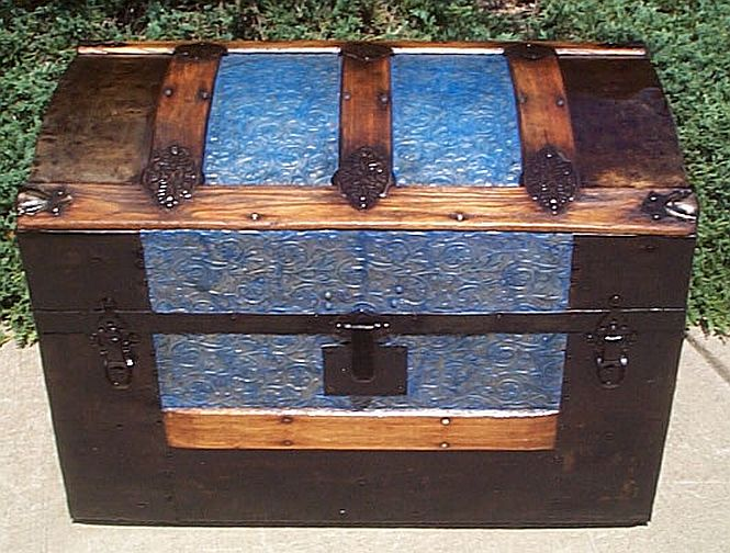 Antique Flat top trunk #242