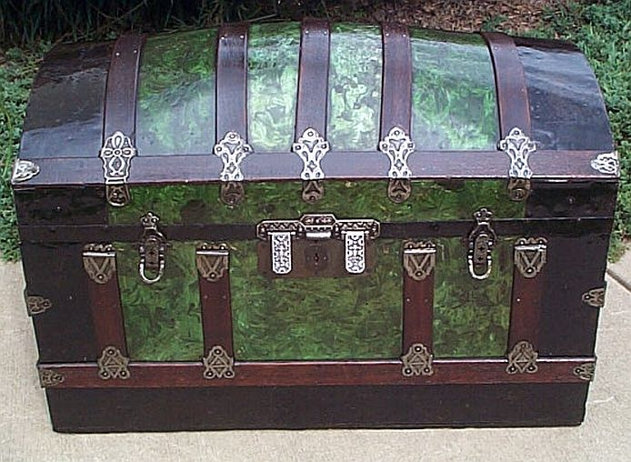 Antique Dome Top trunk #243