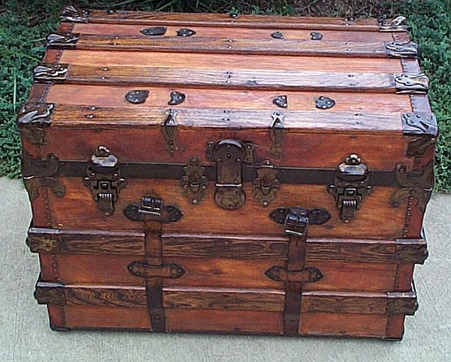 Antique Dome Top trunk #244