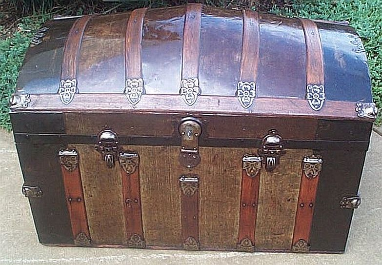 Antique Dome Top trunk #246