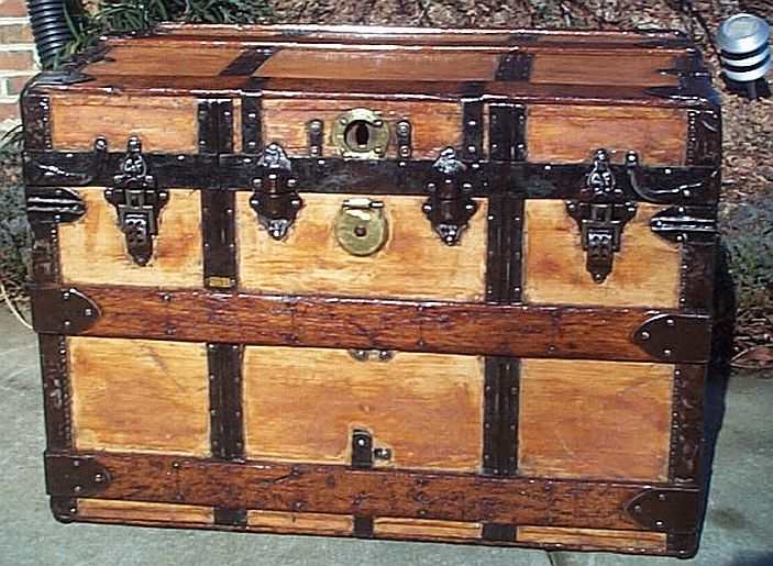 Antique flat top trunk #268