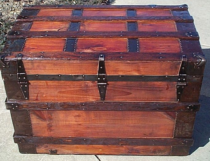 Refurbished Antique Trunk #269
