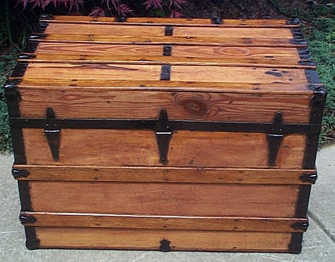 Refurbished Antique Trunk #274