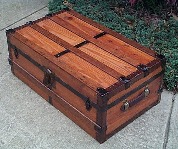 Refurbished Antique Trunks #275