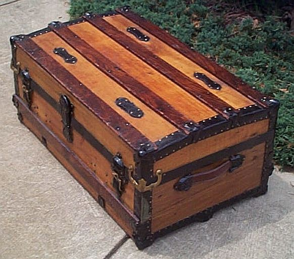 276 Antique Trunks Low Profile Restored Antique Trunks And