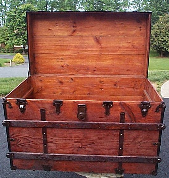 Refurbished Antique Trunk #277