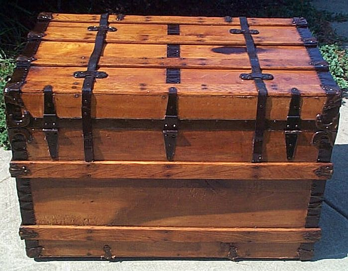 Refurbished Antique Trunk #282