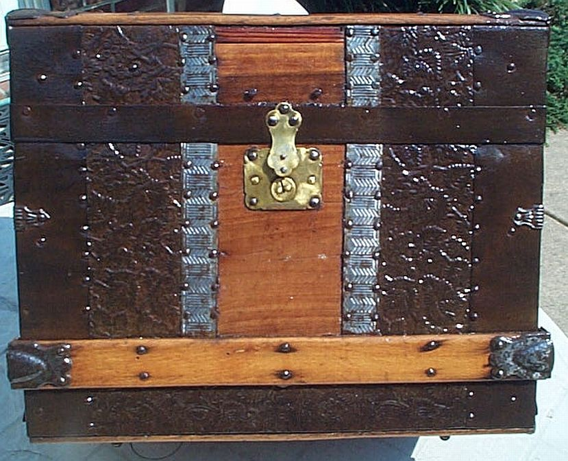 antique sea chest trunk #311