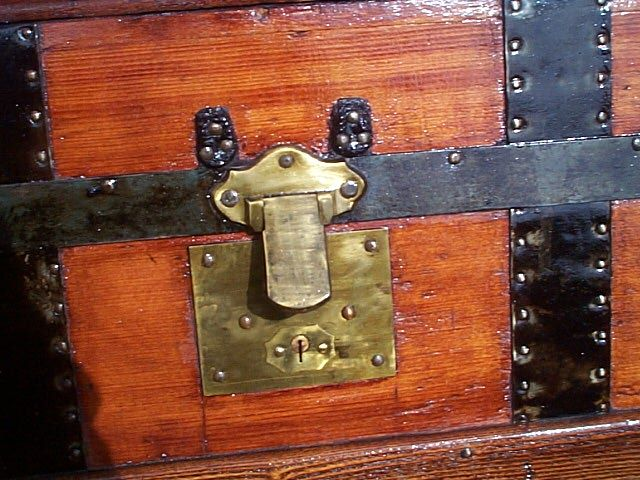 Antique Steamer Trunk #317