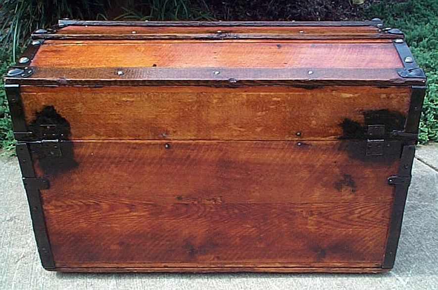 Antique Steamer Trunk #329