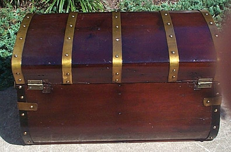 Antique Steamer Trunk #331