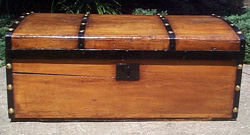 restored antique trunks for sale in low profile style 332