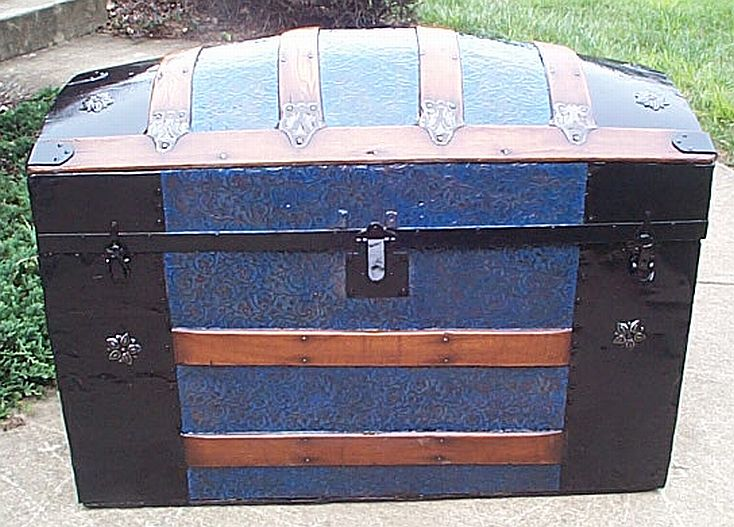 perfect US Navy Retirement Shadowbox Idea restored antique trunks for sale dome top style 333