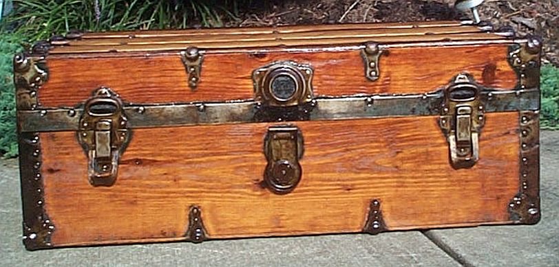 restored antique steamer trunks for sale low profile style 334