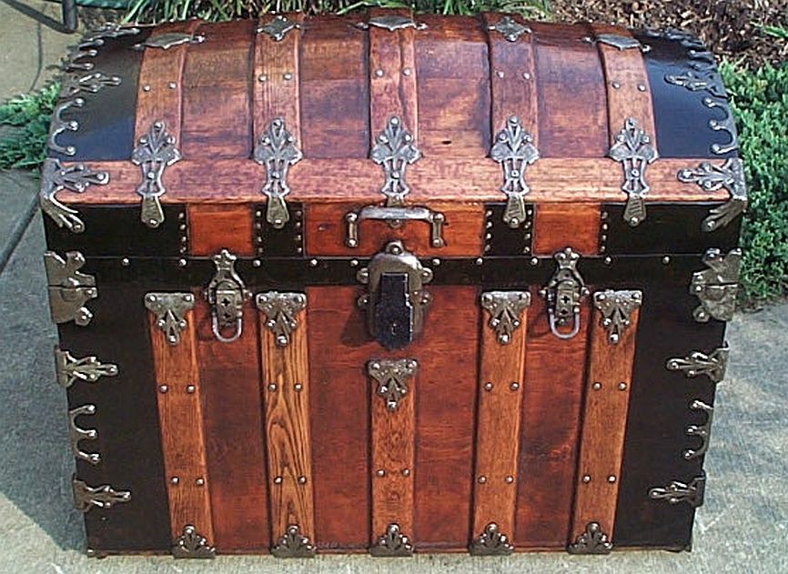martin maier dome top antique trunk 336