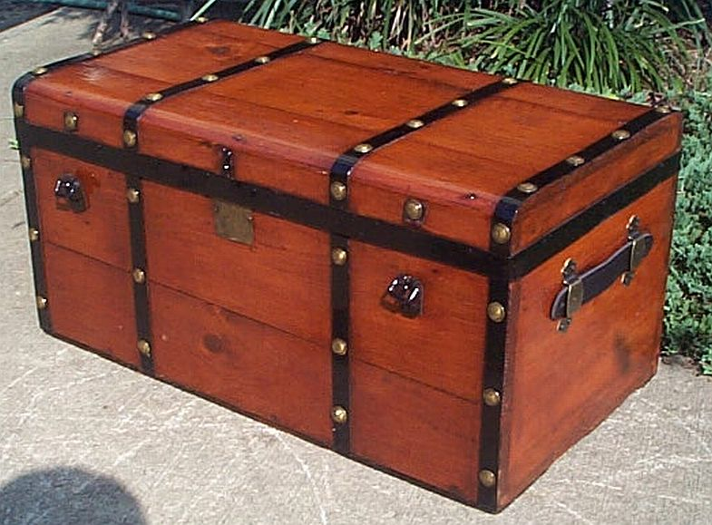 Restored Antique Steamer Trunks For Sale Dome Tops Flat