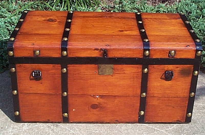 restored antique steamer trunks for sale low profile style 337