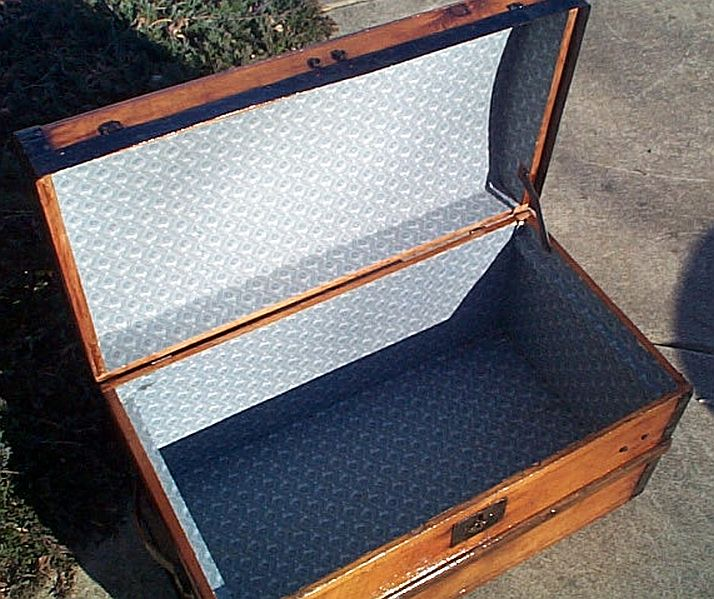 Civil War Antique Trunk #340
