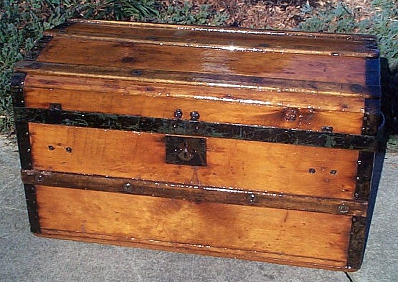 civil war era restored antique steamer trunks for sale 340