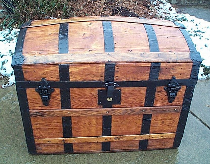 fully restored antique steamer trunks or antique trunks for sale 341